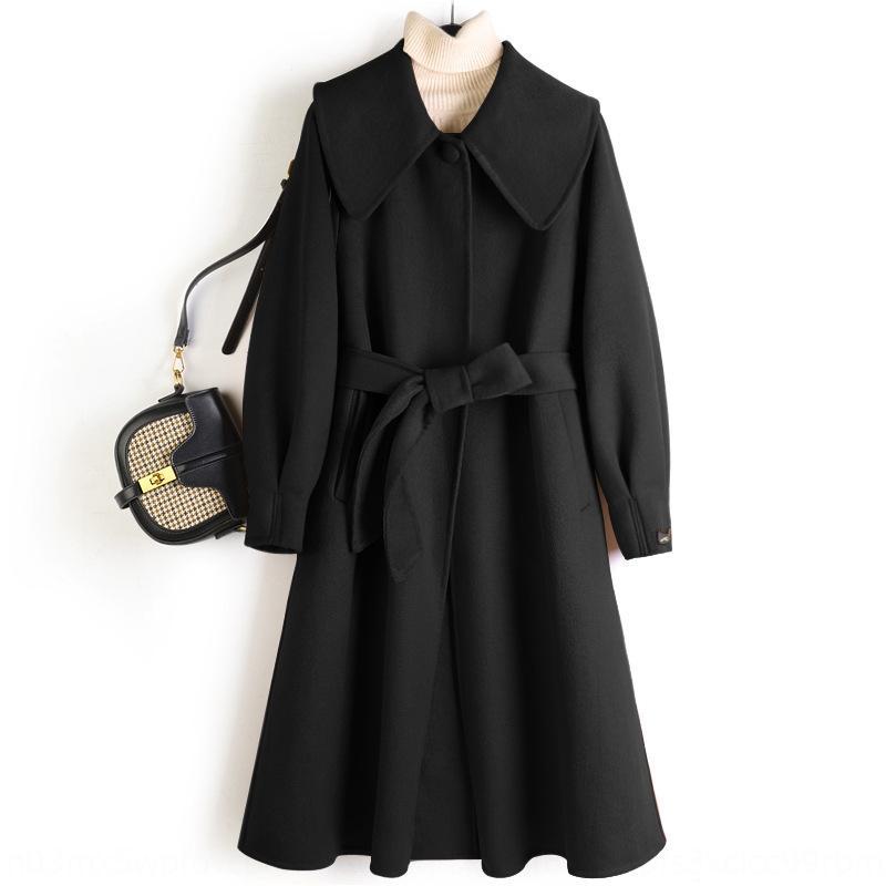 Двусторонний шерстяное пальто с ч швейного интернет знаменитостью и большой куклой воротником 2020 осенью и зимой пальто шерсти кукла шерсти Новой