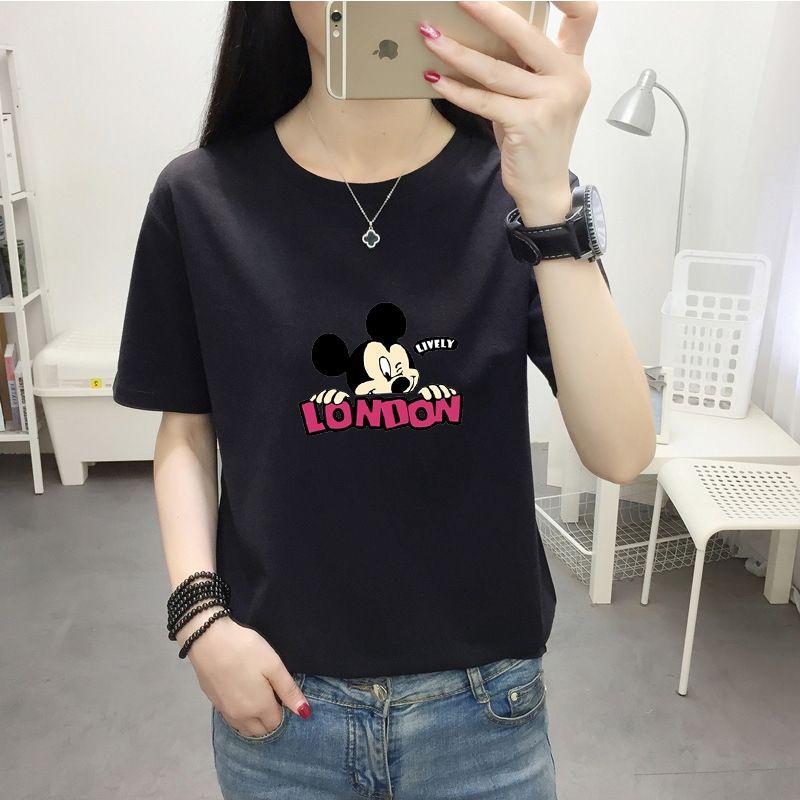 2020 yaz moda Kore tarzı yeni pamuk kısa kollu tişört kadın rahat Üst Kat tişört üst büyük boy kadın giyim