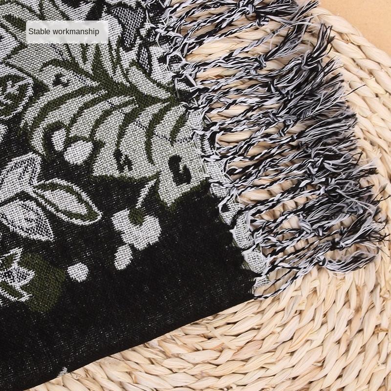 5sGEU Népal printemps automne et l'hiver longue écharpe écharpe de Voyage de protection solaire air conditionné polyester femmes Climatisation châle Oversi
