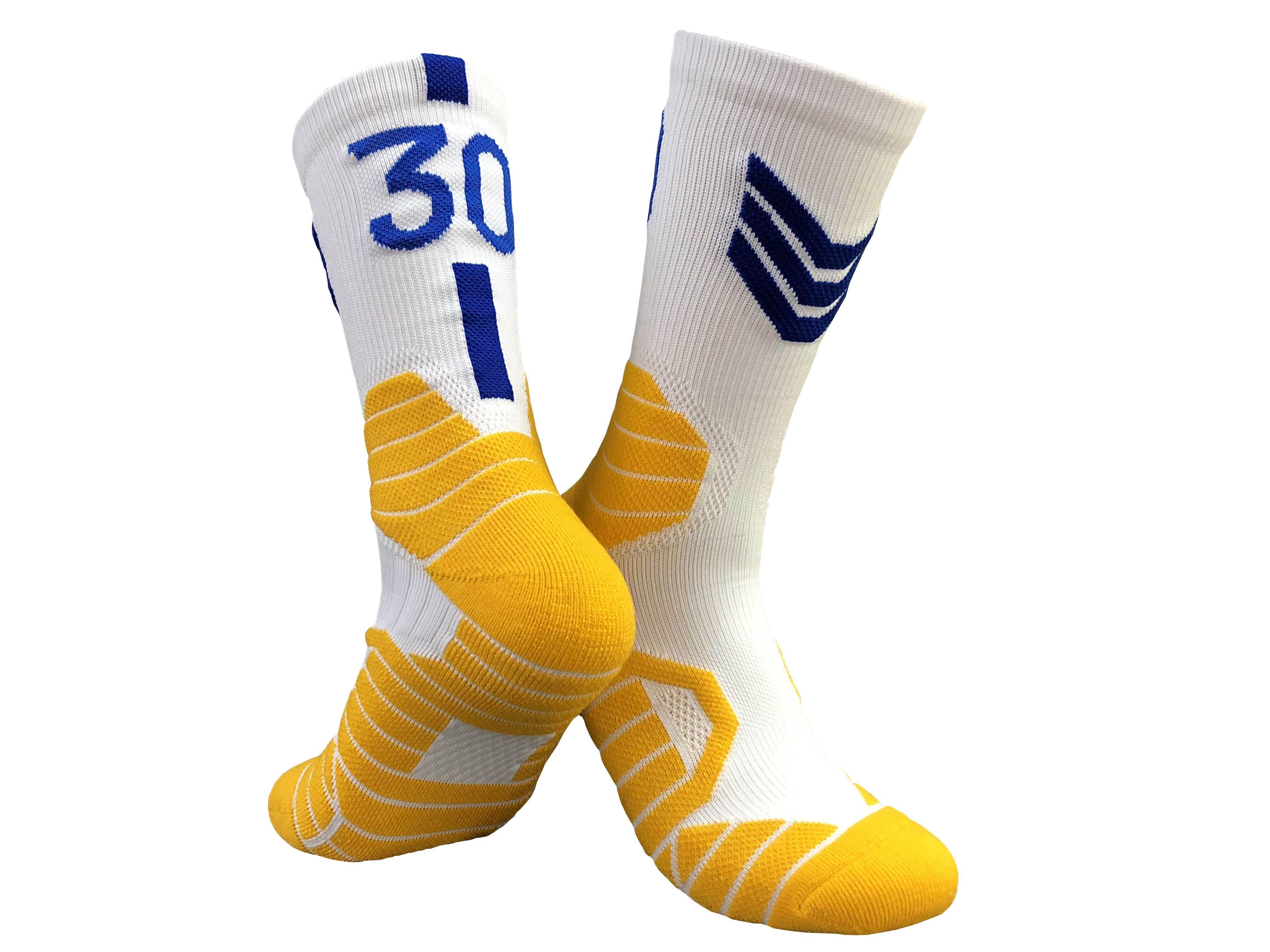 Professional player number basketball socks non-slip durable skateboard towel bottom sports socks men's mid-tube elite socks