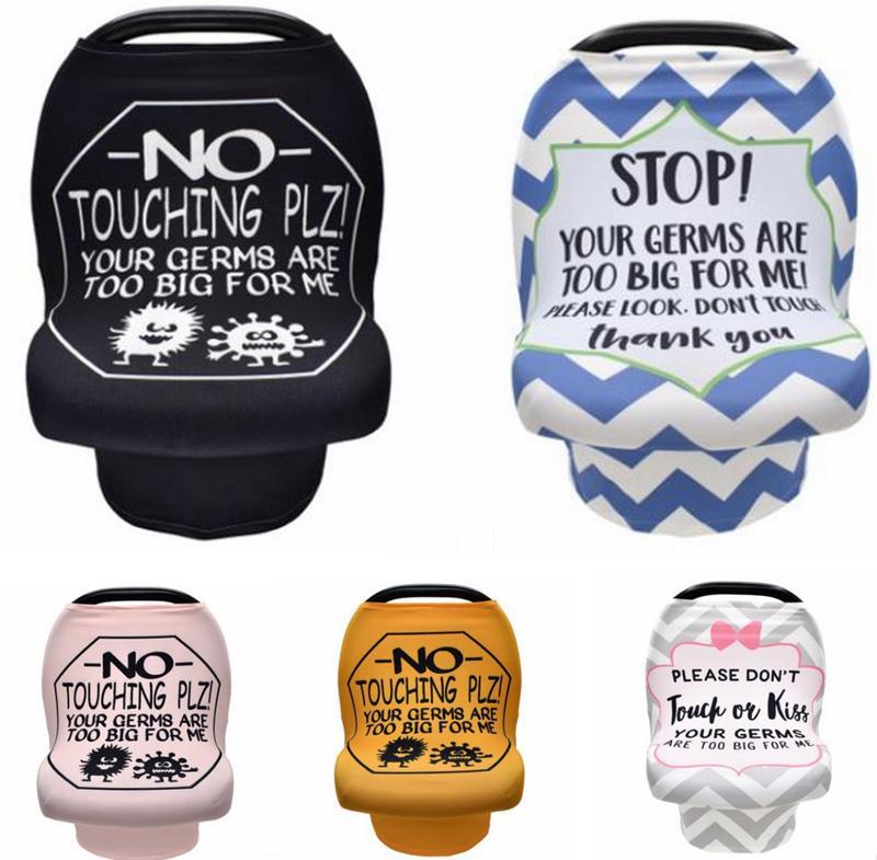 Krankenpflege-Abdeckung Stillen Schal mit Sicherheit keine Berührung Zeichen Baby-Auto-Sitzbezüge Newborn Carseat Canopy Warenkorb Abdeckungen Warnung 5551