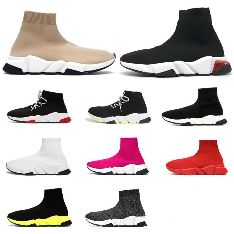 concepteur chaussures chaussette espadrilles mode formateur Graffiti vitesse triple coureurs de course beige noir casual clair plateforme hommes unique femmes chaussure de sport
