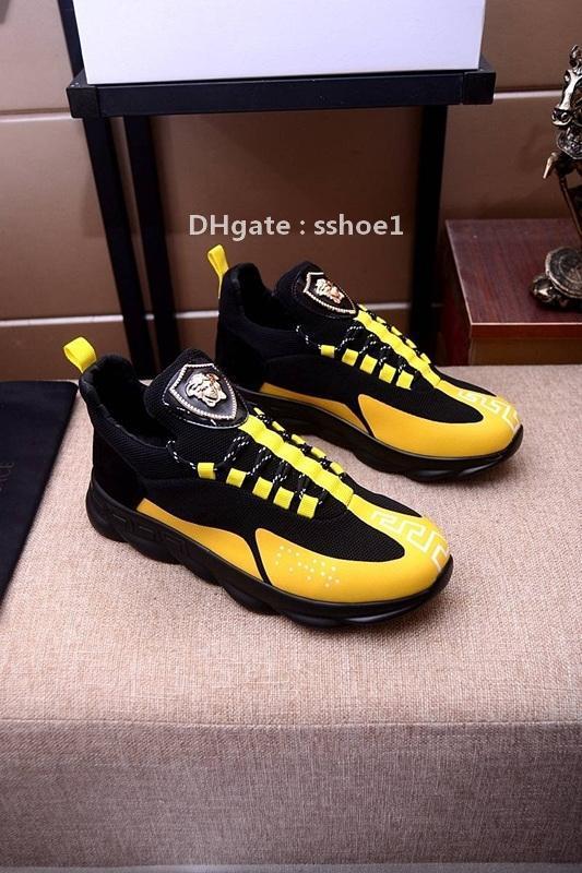 2021-2020g alta costura -Fin de malla Negro y negro de baja -Top Casual zapatos de marea, de moda salvaje de encaje -Up deportes de los zapatos corrientes, tamaño: 38 -45