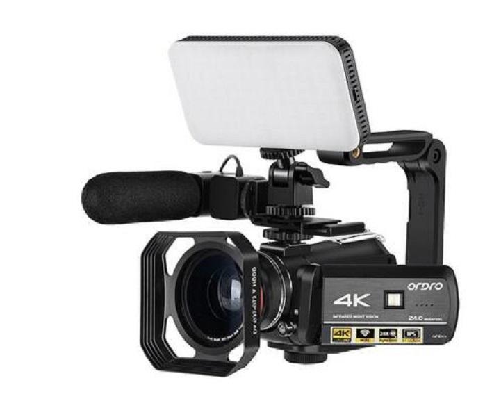2020 كاميرا جديدة ORDRO AC3 4K مع واي فاي للماء 30X التكبير الرقمي بالأشعة تحت الحمراء للرؤية الليلية