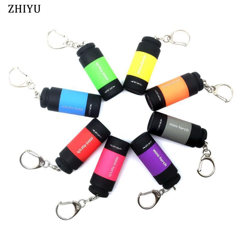 12 Types Mini Torches Led USB de charge 5W 25Lumen Portable Withe lanterne Trousseau lampe étanche Camping Lumière