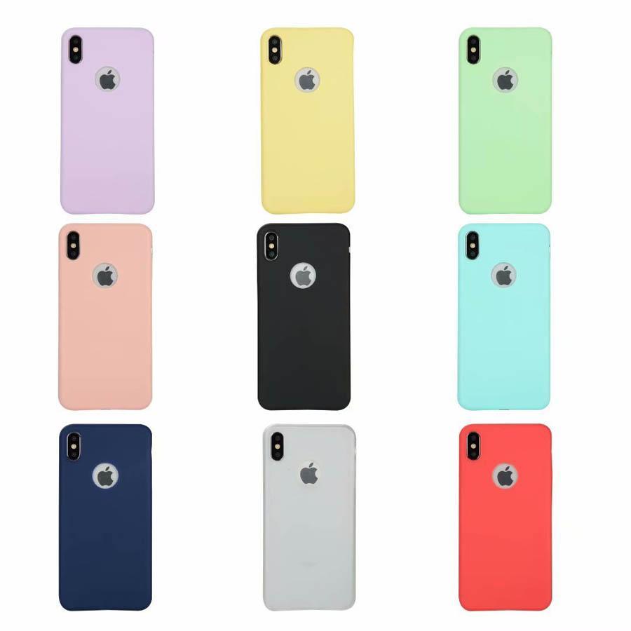 إلى iPhone Xs Max iPhone XR كاندي كولز حافظة تي بي يو سيلكون لهواتف ايفون 8 7 + 6S بلس 5S كوكه 9 ألوان