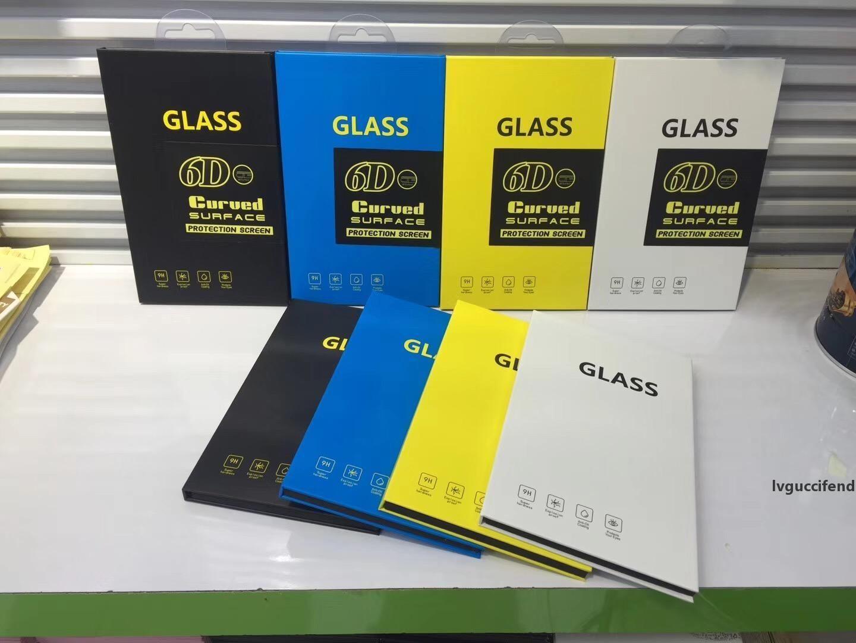 Retail Box Package Papel caixa de plástico de embalagem para a tela 3D 6D Curvo premium de vidro temperado Protector Film Pendure Buraco 2019 Moda Luxo Bag