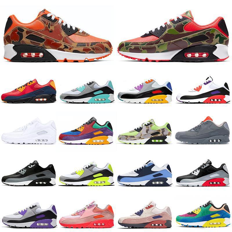 New Top 90 tênis Camo premium SE Cinza frio Mixtape seja verdadeiro dos anos 90 das mulheres dos homens formadores des chaussures esportes ao ar livre Sneakers