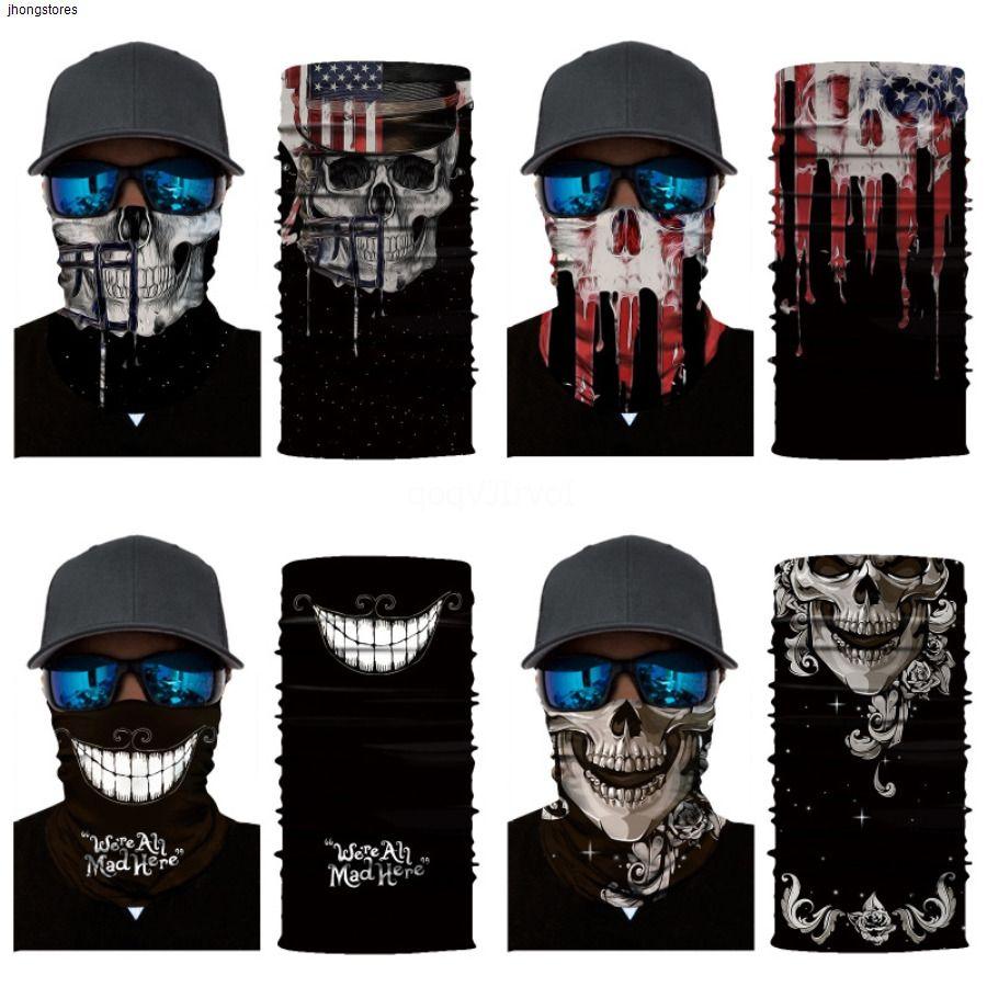Звездное небо Велоспорт черепа Новый шарф печати Hairband маска для лица Открытый череп шарф повязка Light I14W
