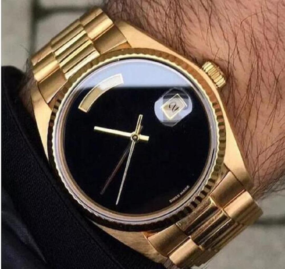 оптовые часы DAY DATE автоматические механические 41мм 18K мужчин королевских Оукса watchres нержавеющей стали окантовка Часы наручные без батареи 2813 12