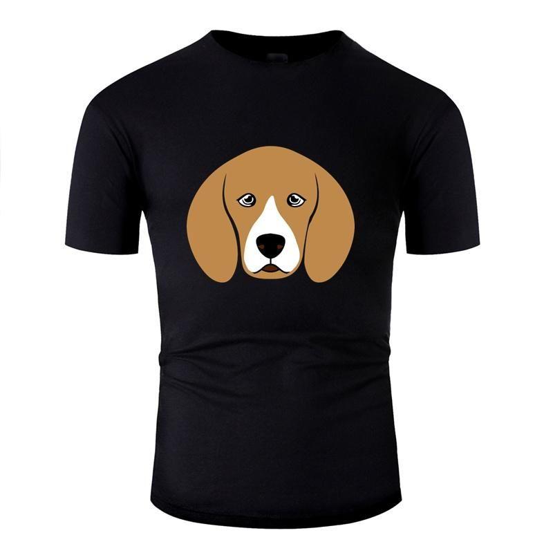 Beagle Designs-T-Shirt für Herren-Brief Unisex Harajuku Männer und Frauen-T-Shirts mit Rundhalsausschnitt kurzer Hülsen-Qualitäts