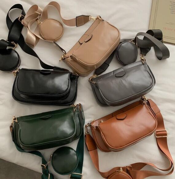 3 Stück Frauen-Schulter-Beutel neue Art und Weise Composite-Beutel-Qualitäts-Leder-Handtaschen Mehr Collocation