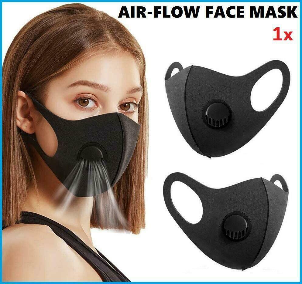 Дыхание Valve Anti Dust моющийся Face Mask Рот Обложка РМ2,5 Респиратор пылезащитный антибактериальное многоразовый ткань хлопок маски