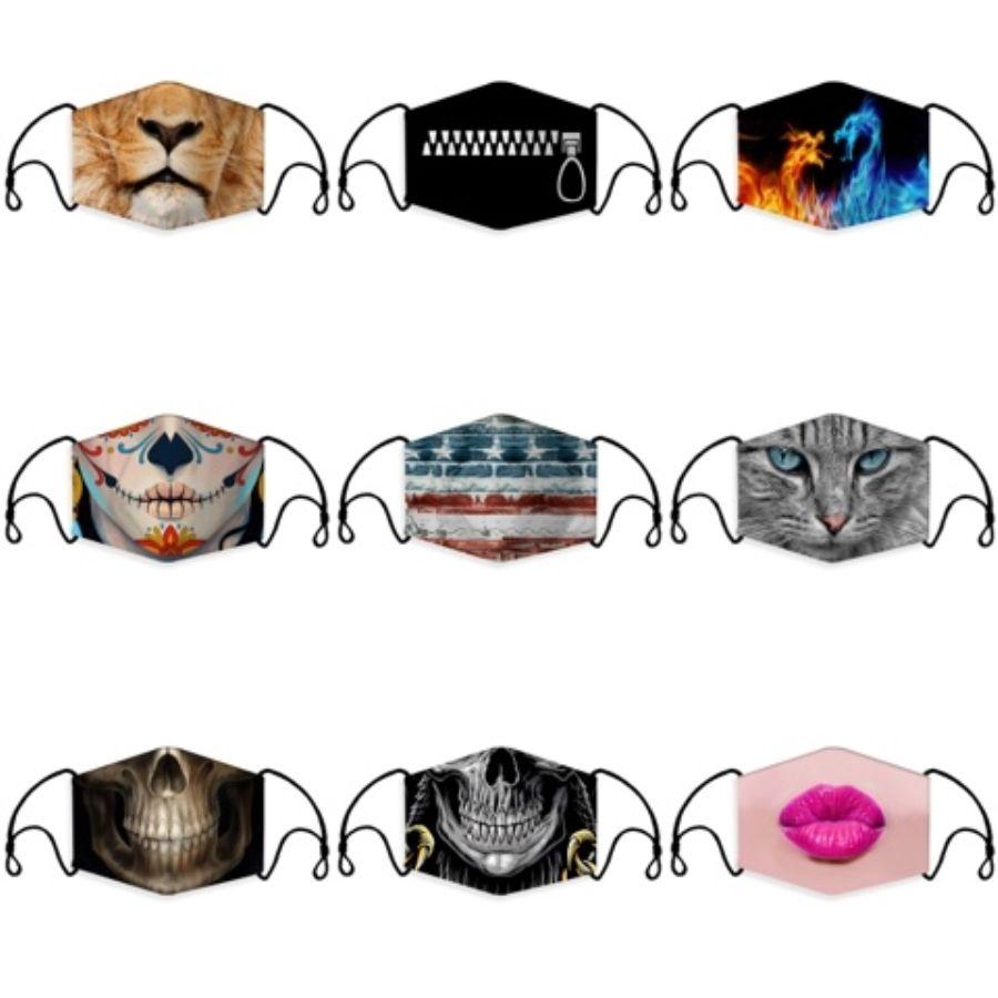 Réutilisables Dustpoof Sport masque avec filtres de protection individuelle réglable pour la course, Cyclisme, Activités de plein air # 264