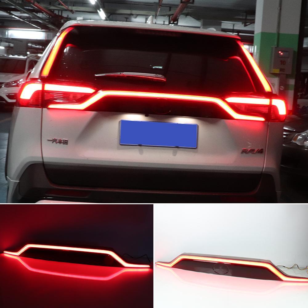 1 unids para TOYOTA RAV4 2019 2020 Transporte trasero Transporte Transporte LED LED Lámpara de Freno Reflector Lámpara de ADVERTENCIA Lámpara de niebla