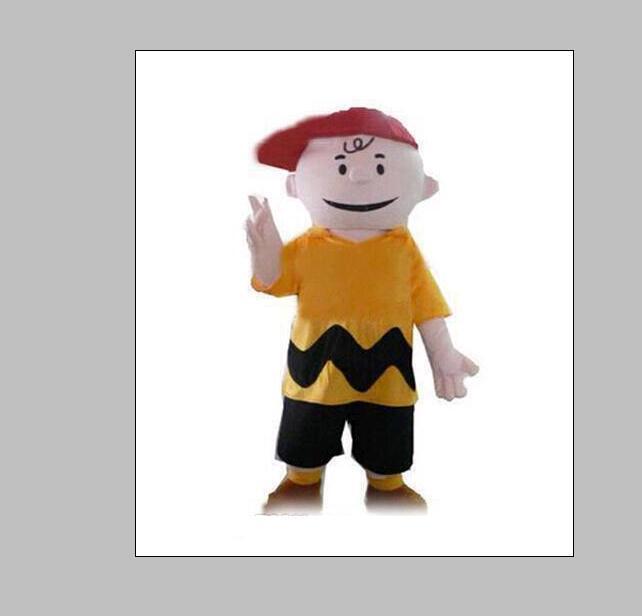 2020 de alta calidad de personaje de dibujos animados del traje de la mascota de Charlie marrón trajes del vestido de lujo del traje adulto