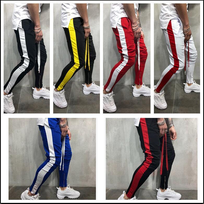 Hirigin Harajuku Moda Mens Corredores de Slim Pencil Pants Hip Hop Streetwear Mens Clthes 2020 Homens Sweatpants faixa Pant Hot New