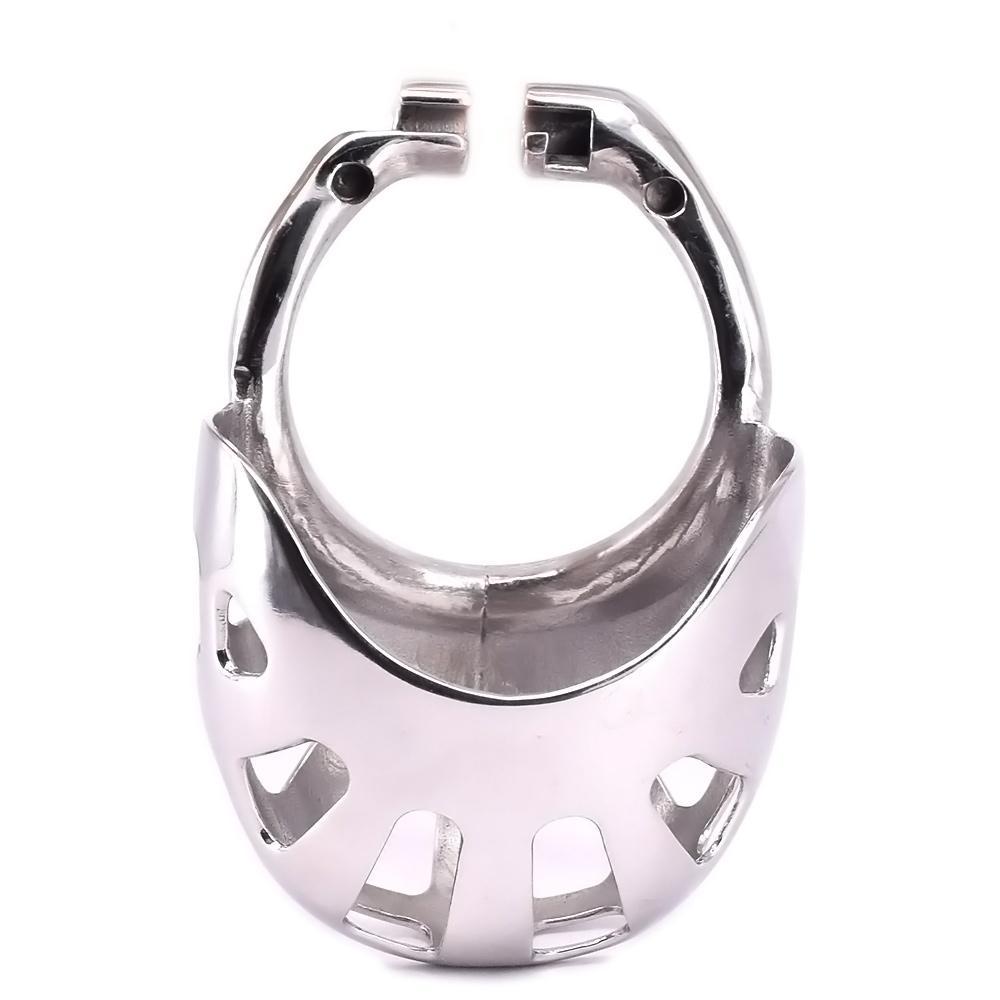 Männliche Penis-Ringe für Cock Cage Edelstahl Arc Cockring Metall Keuschheitsgürtel Zubehör Skrotum Bondage Fesseln Getriebe