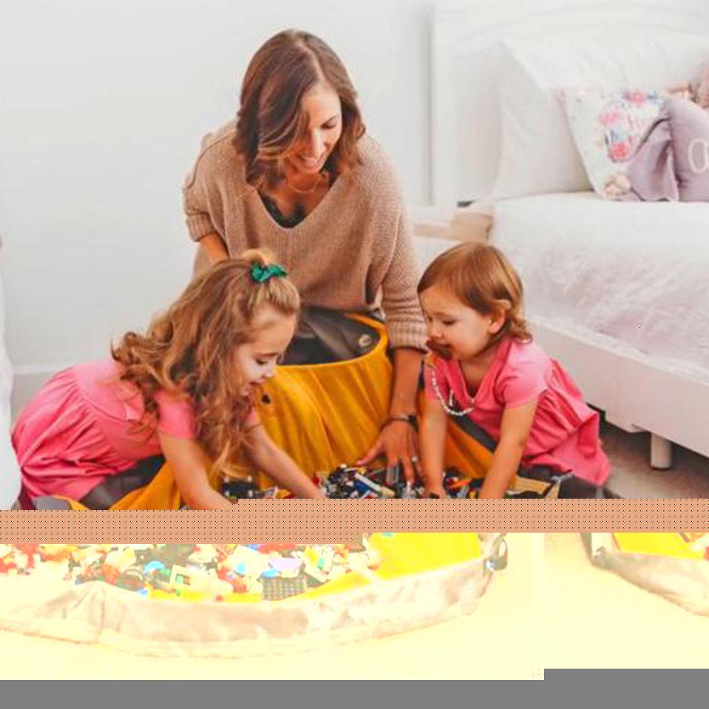 Enfants Sac Portable Toy stockage Drawstring tapis de jeu Lego Jouets SlideAway de nettoyage et de stockage Sac Container Organisateur