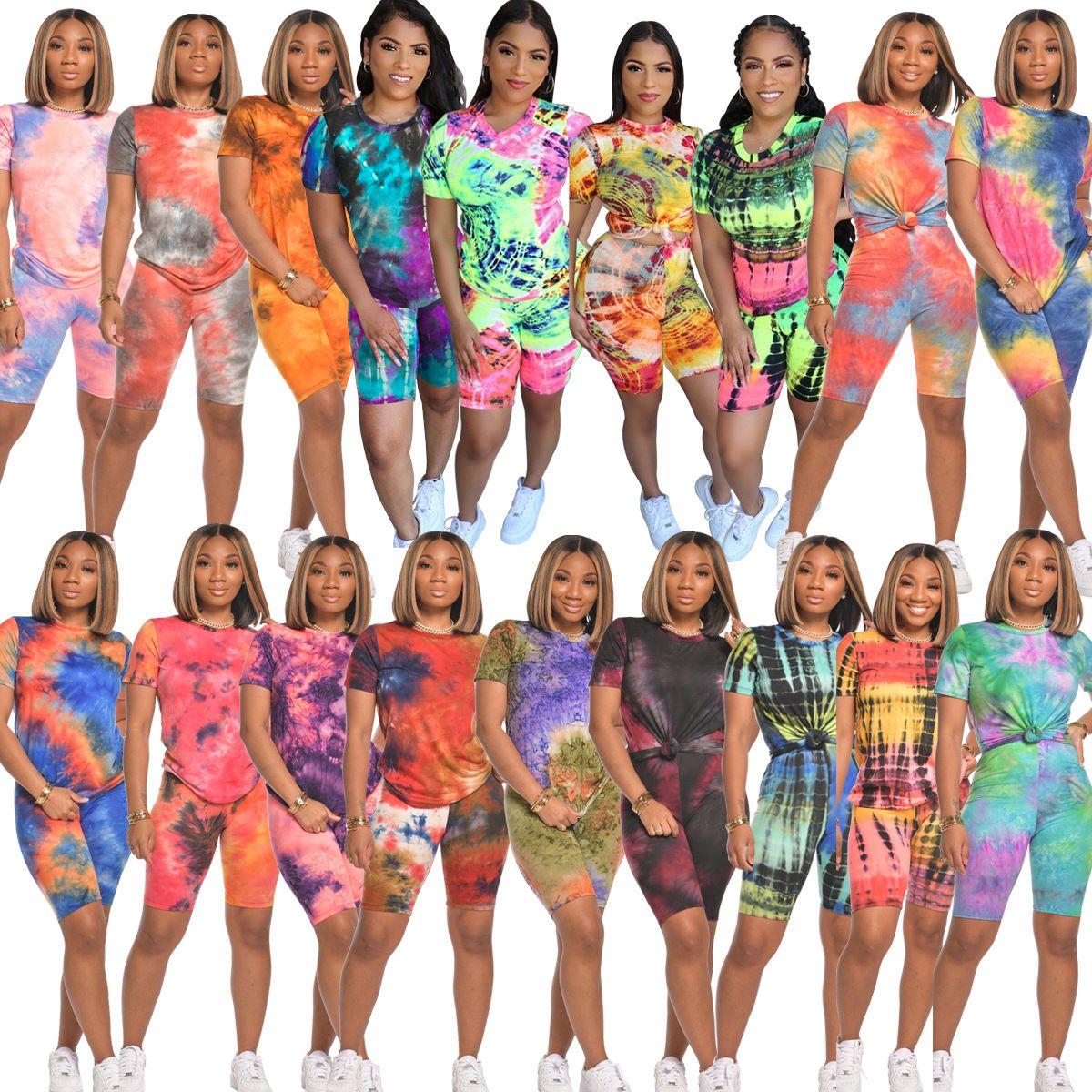 kadın moda rahat spor yuvarlak boyun kısa kollu tişört üst şort iki parçalı set koşu takım elbise gömlek modelleri kadın Tavsiye yazdırma'den