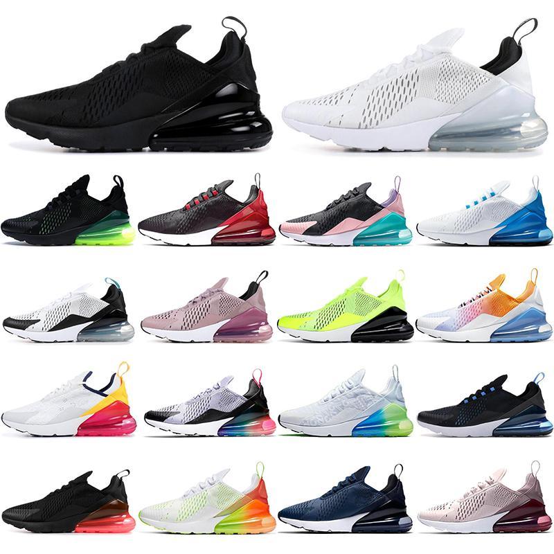 Nike Air Max 270  Yeni gelenler Bayan Erkek Ayakkabı Yeşil Siyah Beyaz Hava Yastığı Üçlü Erkek Sneakers Atletizm Eğitmenler Koşu Ayakkabıları US5.5-11