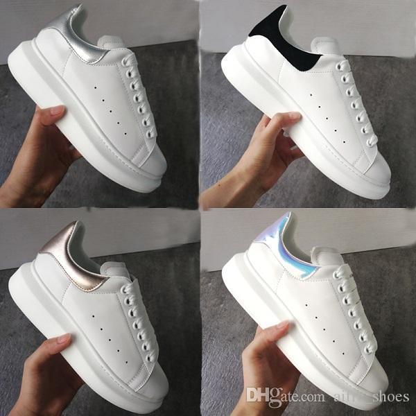 Sapatos de plataforma de luxo designer Sneakers extragrandes Suave 100% couro de bezerro Homens e Mulheres Lace-up Trainers Big sola de borracha com a Nova Caixa