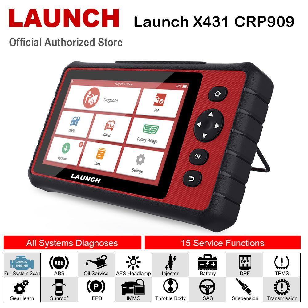 LANCER X431 CRP909 OBD2 voiture diagnostic Scanner professionnel OBD2 Scanner Airbag SAS TPMS IMMO Réinitialiser mileage Auto Lecteur LANCER