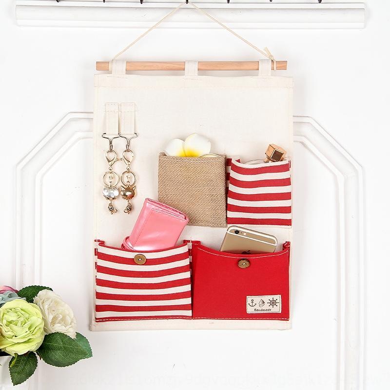 yapışkanlı kanca asılı çanta yaratıcı kumaş ev yatak odası depolama saklama çantası ile Yeni Japonca ve Korece yaşam ev odasının dört torba