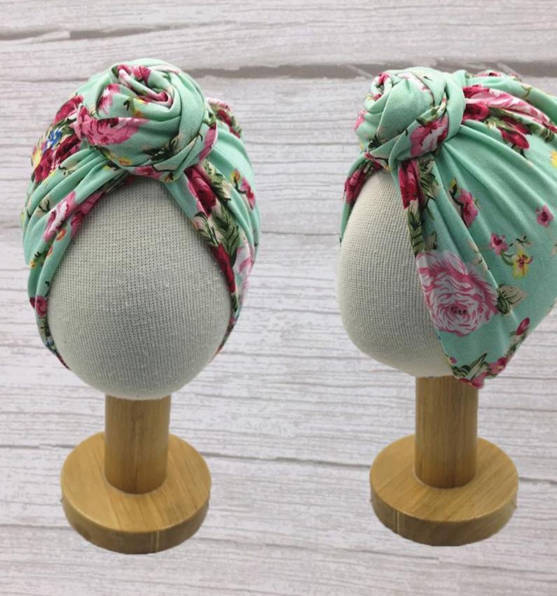 ребенок Индии шляпа дети лук Новорожденного цветок Тюрбан Узел голова Wrap Дети Мальчики Индия Beanie Hat Cap LJJK2379