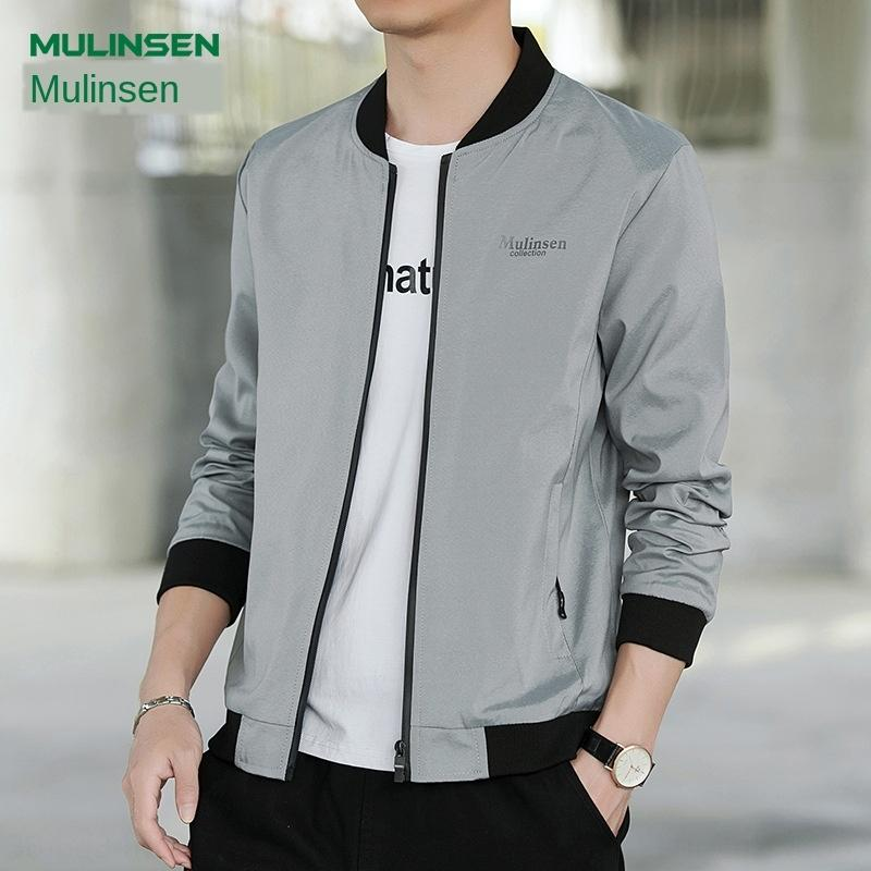 Mulinson thin fashion slim youth four-sided elastic stand collar men's casual men's clothing Clothing jacket jacket jacket
