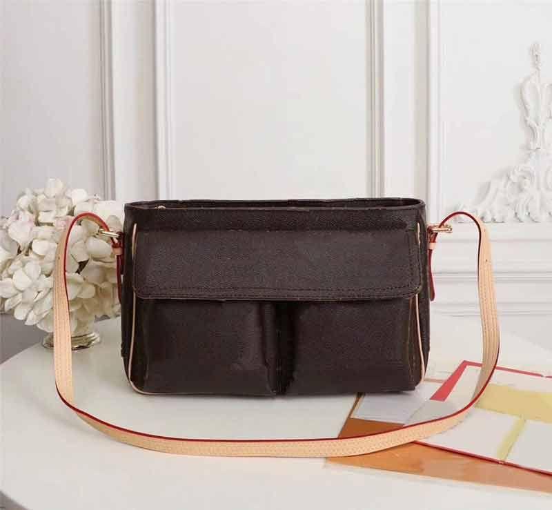 M51163 m51164 sacs véritables sacs à épaules de mode tapottes sacs sacs sacs de sacs en cuir Messenger Messenger W Femmes Crossbody motif épaule Wehsq