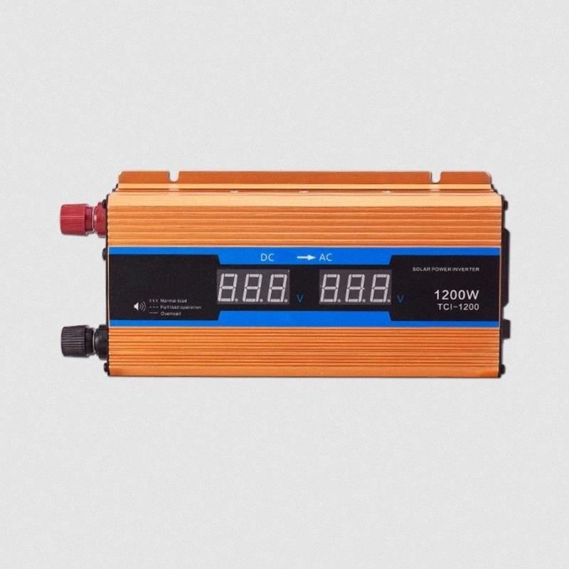 Dual Display Car Power Inverter Converter carregador adaptador Modificado Sine Wave / 1200W / 1600W fcDy #
