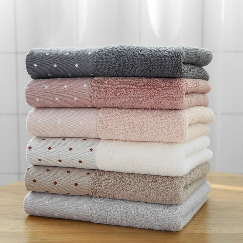 100% algodão 34x75cm toalha de rosto toalhas de mão macia grossa de algodão para Adultos Quick Dry ponto sólido toalha 1pc cores de alta qualidade