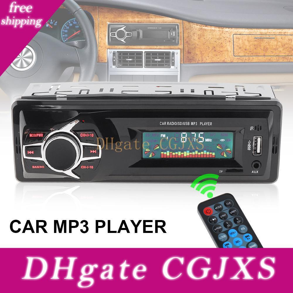 12v Lcd Display Car Radio Mp3 Player Vehicle Stereo Audio In -Dash Aux Input Receiver Support Tf /Fm /Usb /Sd With Remote Control Cau _02a