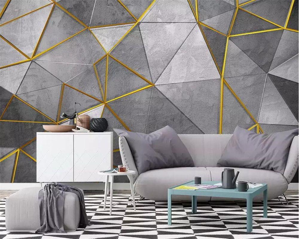 beibehang papel de parede Heim Tapete Wandbild Nordic moderne abstrakte geometrische TV Hintergrund Wände 3D Wallpaper