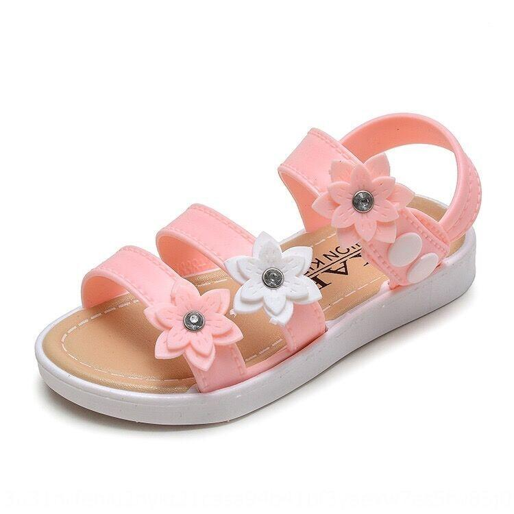 2020 new anti-skid soft bottom buckle bow women's shoes and Butterfly sandals medium and large children's plastic sandals for girls
