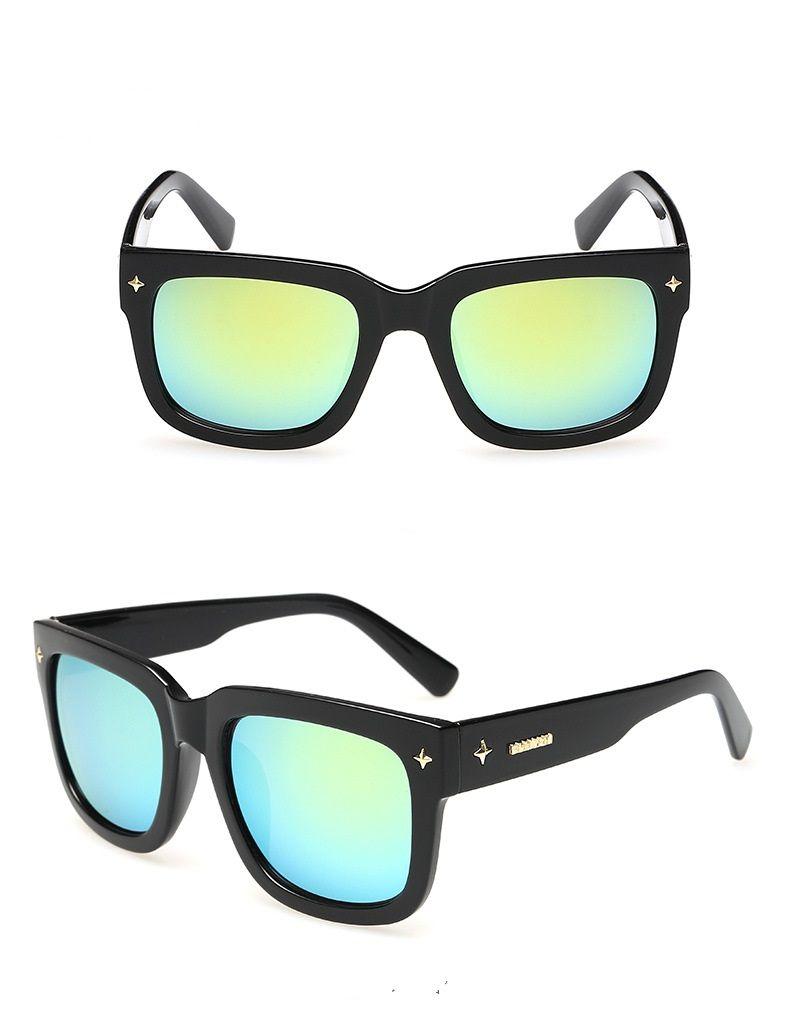mens sello intenso Mate Negro gafas de sol de las gafas de cristal de la lente del tablón de gafas de sol de alta calidad para mujer gafas de protección UV gafas 50 / 54mm