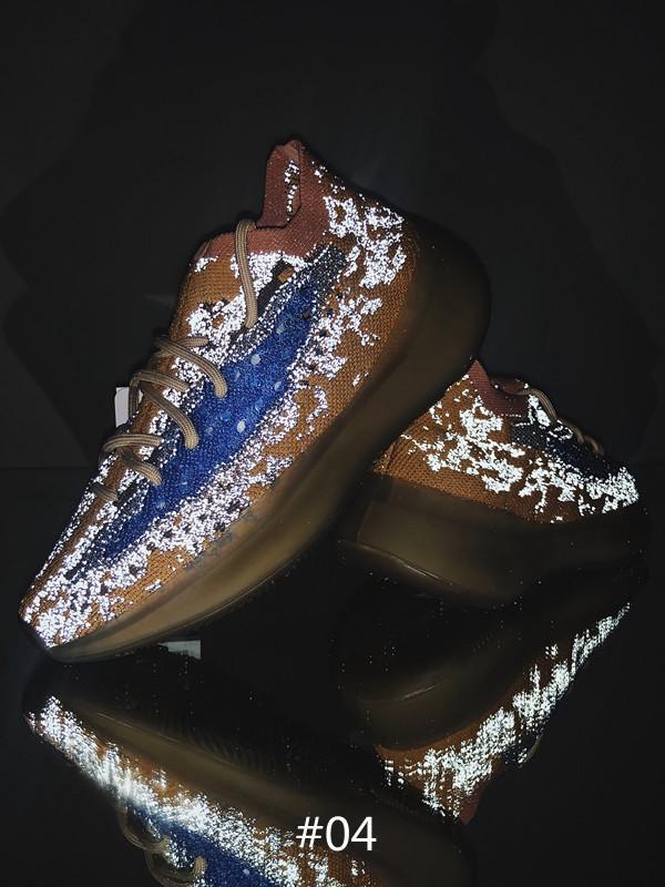 Nouveau 380 Bleu Avoine Reflective Basf Homme Femme Chaussure de course avec Box 2020 Kanye West 380 Mist Sport Sneakers Taille 5,5 à 14