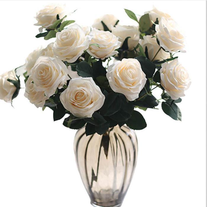 soie artificielle fleur rose simulation bouquet fleur maison mariage partie décoration Real Touch sensation hydratante presque exactement