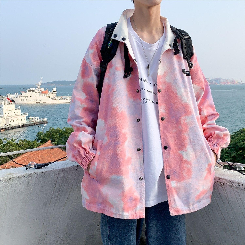 b0ctB Mantel neue abbindgefärbten und koreanischer Stil Mantel Jugend Kleidung Top-Modemarke Herbst Herren Frühjahr Herren-Herbst in