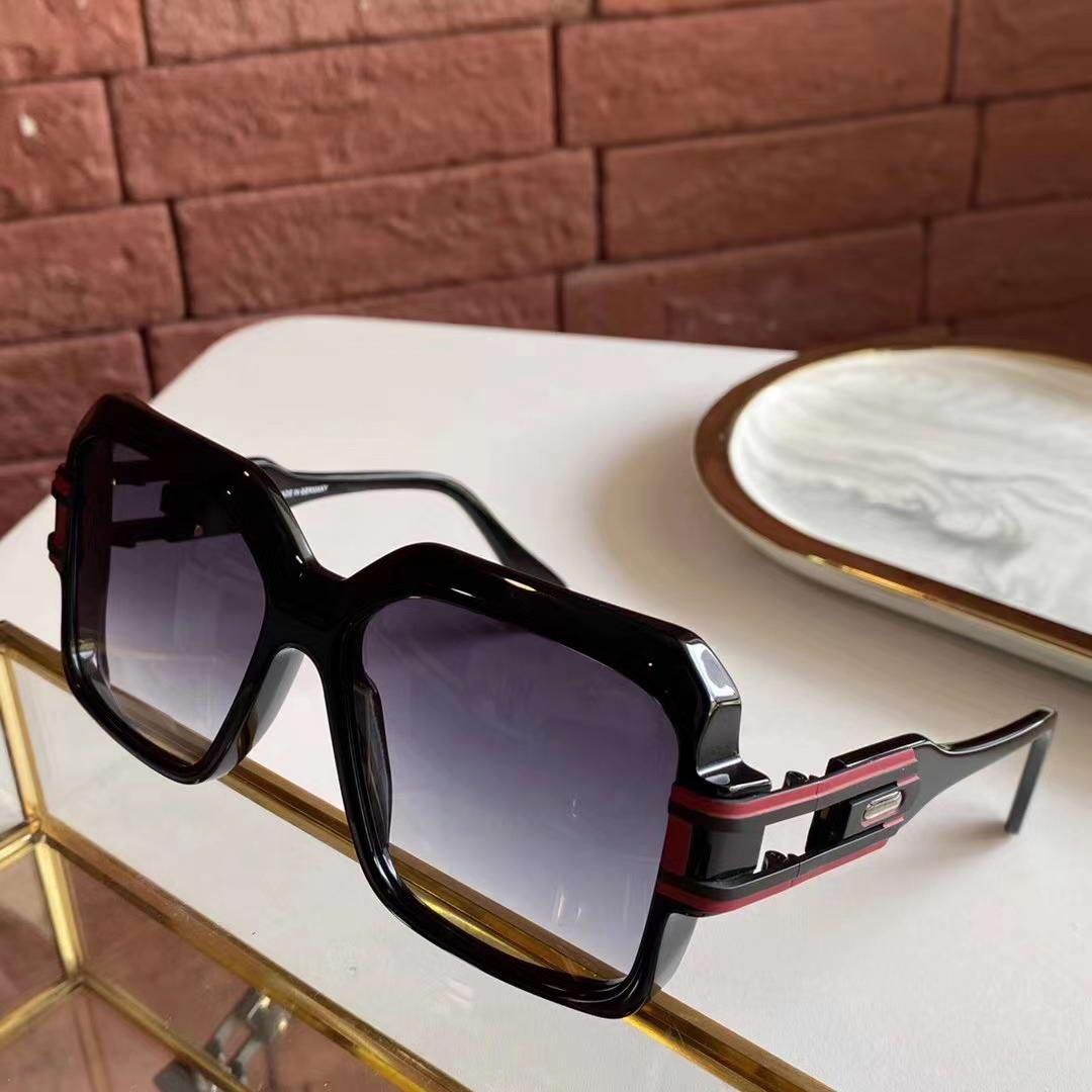 623 Weinlese-Schwarz-Gold Plastikquadrat-Sonnenbrille Grau Gradient Lens 623 Men Legends Sonnenbrille WTH-Box