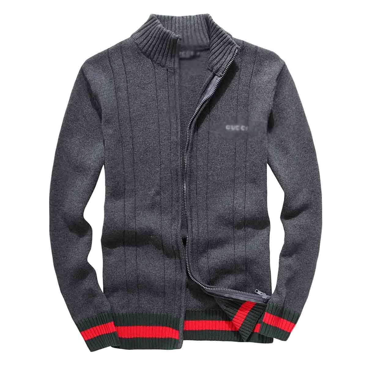 Hombres medusa suéter de lujo capucha chaqueta de punto de letras clásicas