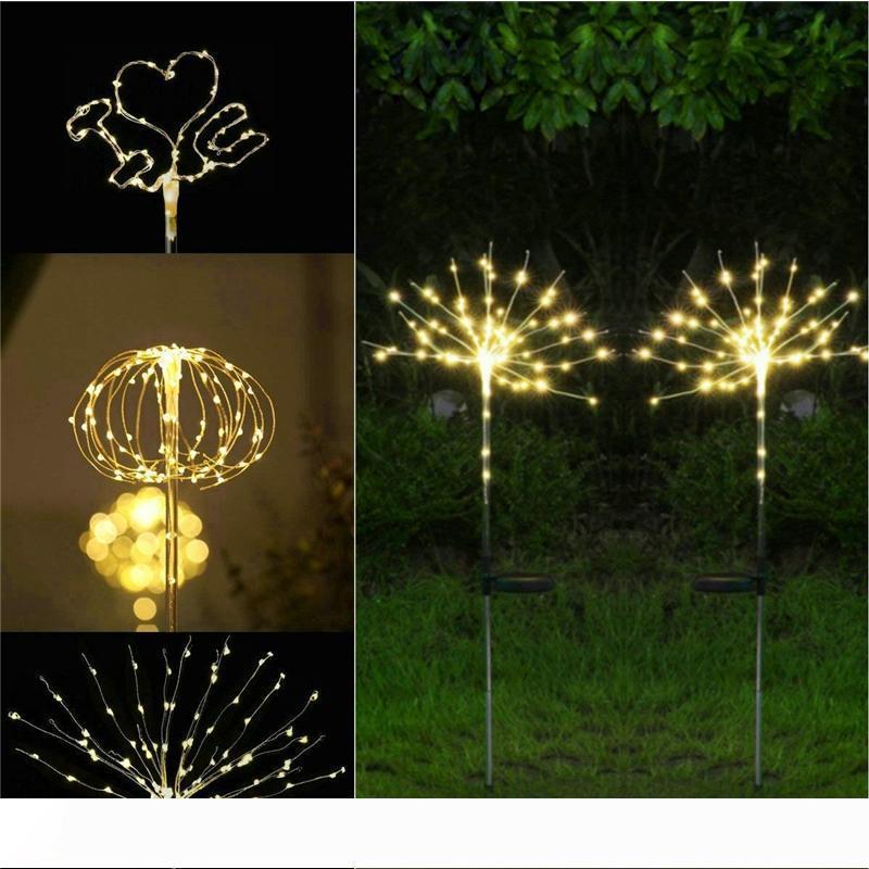 Güneş Işıklar Açık Dekoratif Havai fişek Işıklar Bakır Tel Noel Düğün Festivali Hazırlık ve 90 120 150 LED Starry Dize Aydınlatma