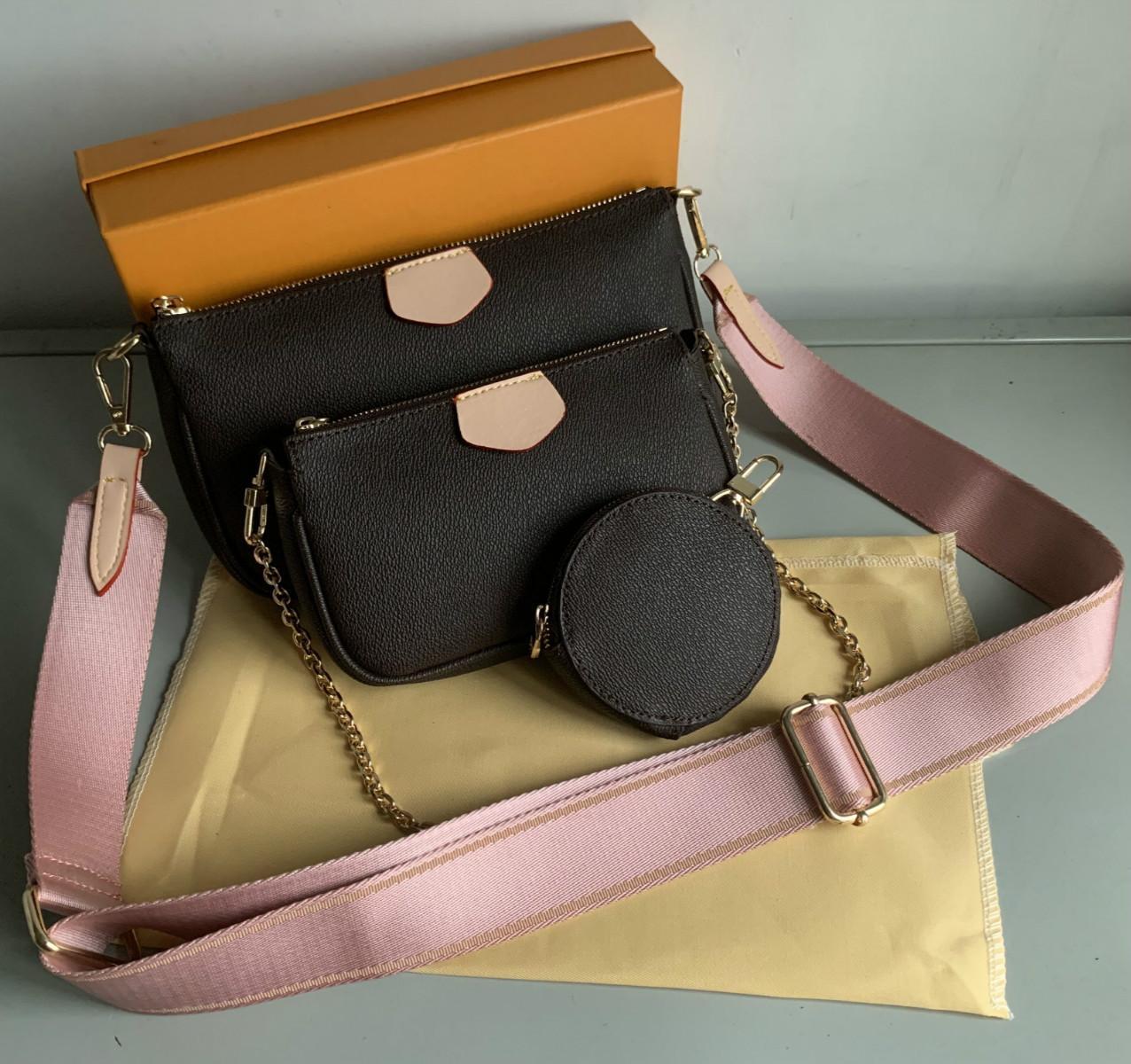 Продажа 3 шт сценографы сумки женщин Crossbody сумки из натуральной кожи роскошных сумок портмон дизайнеров леди сумка Портмоне три записи