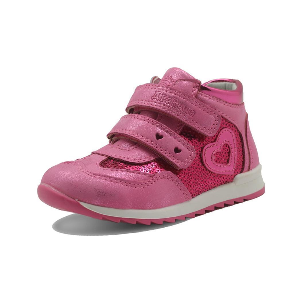 Primavera ragazze di autunno scarpe di cuoio dell'unità di elaborazione del bambino dei bambini delle scarpe da tennis con zip Anti-Slip scarpe per bambini per Ragazze Eur 21-26 T200709