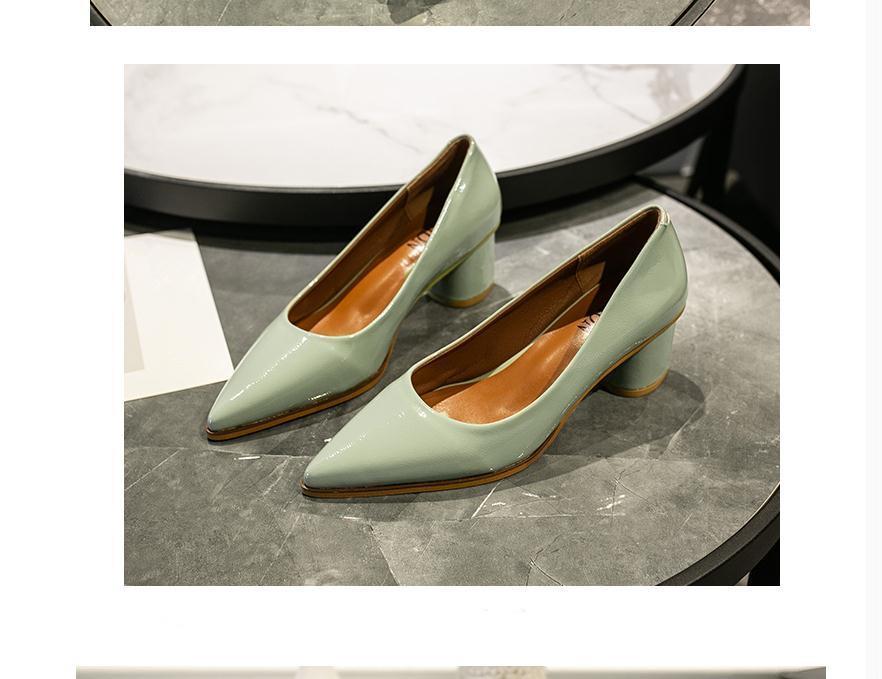 2020 весной и осенью с обувью Новый стиль моды Высокий каблук Грубый пятки заостренный конец женщин в @ MQWBH9888