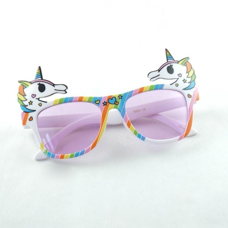 Os3Nn New Tianma créatif New Unicorn partie de licorne balle drôle de soleil enfants lunettes de soleil balle drôle enfants fête Tianma glasse créatif