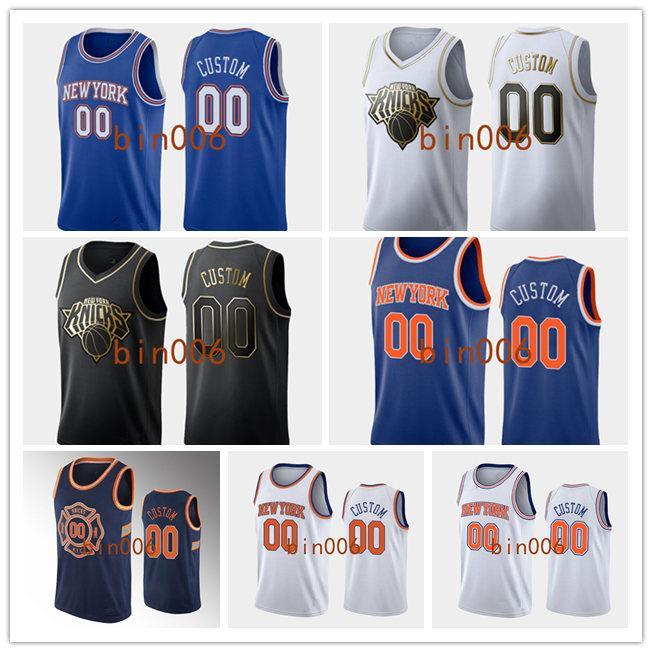 Personnalisé New YorkKnicksHommes Femmes Kid 100% Broderie City Association Déclaration Icon Basketball Jersey S-6XL