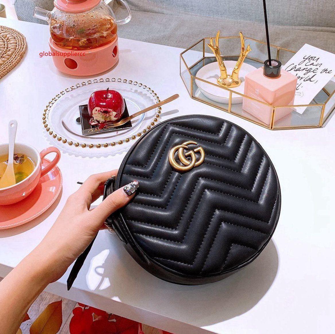 Luxus-Leder Art und Weise diagonale Frauen Handtasche Schulter Messenger Kette Kupplung Lederhandtaschen - 2260
