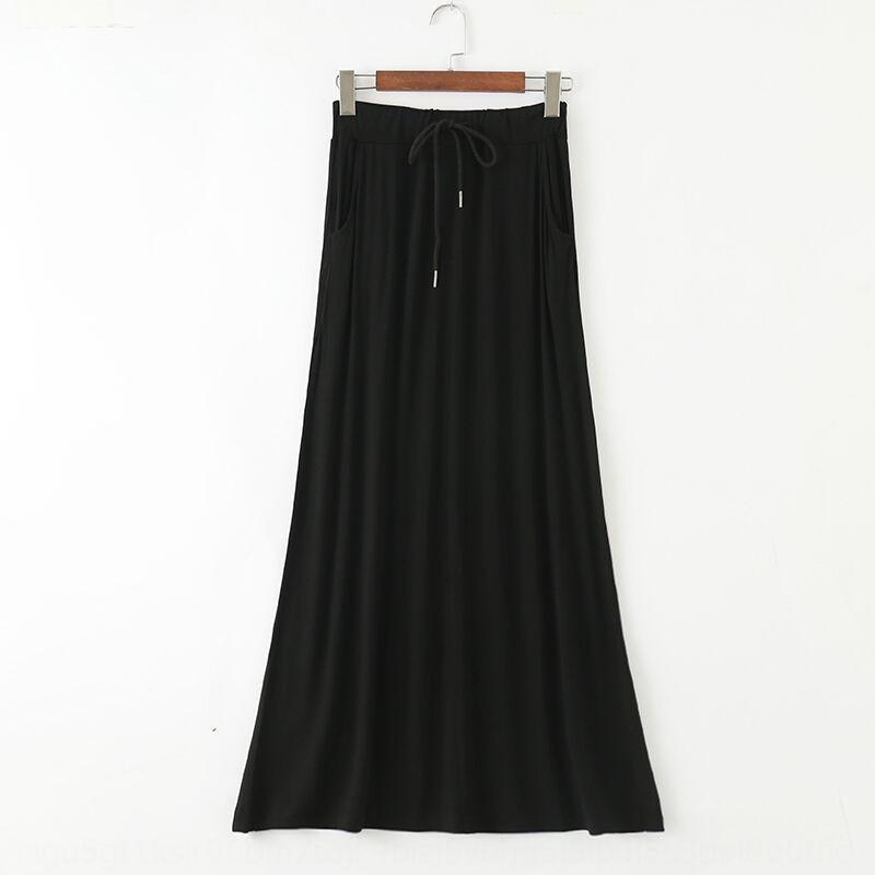 zjg0c ZHRKO 2020 Yaz yeni modal A- çizgi orta boy kadın zahmet boyutu yüksek A- HATTI uzun etek yönlü uzun bel Kore tarzı etek elbise